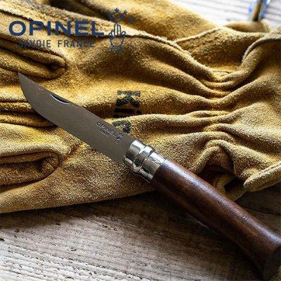 OPINEL オピネル ステンレススチール#8 ウォールナット 41525【ステンレスナイフ 折りたたみナイフ コンパクト ソロキャンプ アウトドアナイフ】