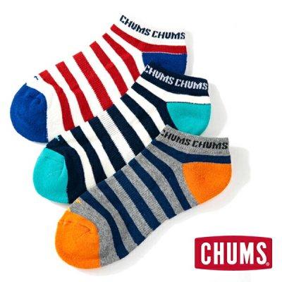 CHUMS チャムス 3Pボーダーアンクルソックス 3足セット