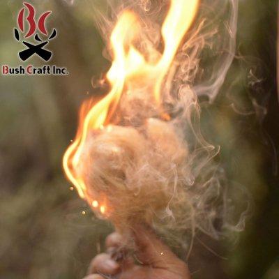 BushCraftInc. ブッシュクラフト 麻の火口 (ほくち)【着火剤 焚き火 たき火 BBQ ソロキャンプ 用品 アウトドア用品】