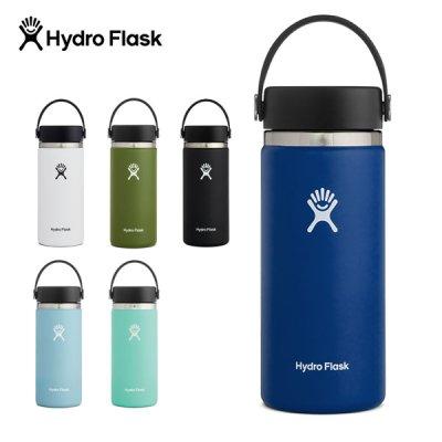 HYDRO FLASK ハイドロフラスク 16 oz Wide Mouth 890015【ステンレスボトル 水筒 焚き火 たき火 BBQ ソロキャンプ 用品 アウトドア用品】