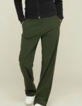【D/S】INCA-wide pants-カーキ