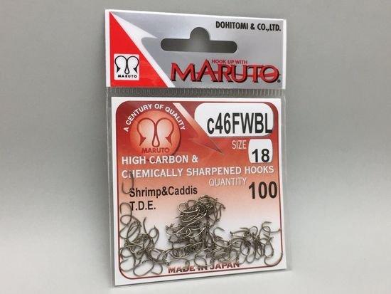タイイング(毛鉤製作) フライフック(バーブレス)-マルト フライフック c46FWBL #18 100本入り(ドライ・バーブレス・カーブ)