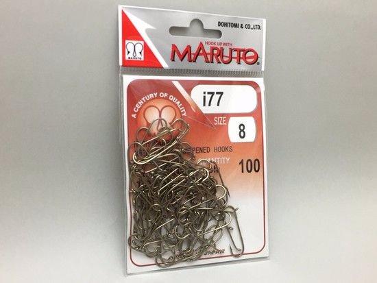 タイイング(毛鉤製作) フライフック(沈める系)-マルト フライフック i77 #8 100本入り(ストリーマー用)