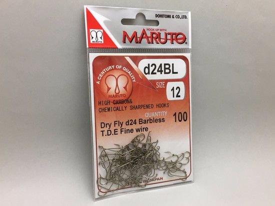 タイイング(毛鉤製作) フライフック(バーブレス)-マルト フライフック d24BL #12 100本入り(ドライ・バーブレス・スタンダード)