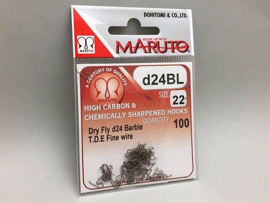 タイイング(毛鉤製作) フライフック(バーブレス)-マルト フライフック d24BL #22 100本入り(ドライ・バーブレス・スタンダード)