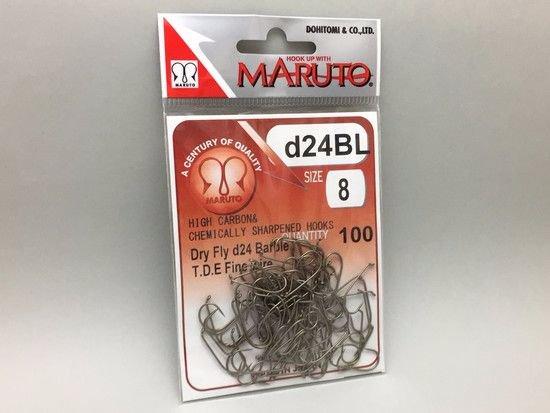 タイイング(毛鉤製作) フライフック(バーブレス)-マルト フライフック d24BL #8 100本入り(ドライ・バーブレス・スタンダード)