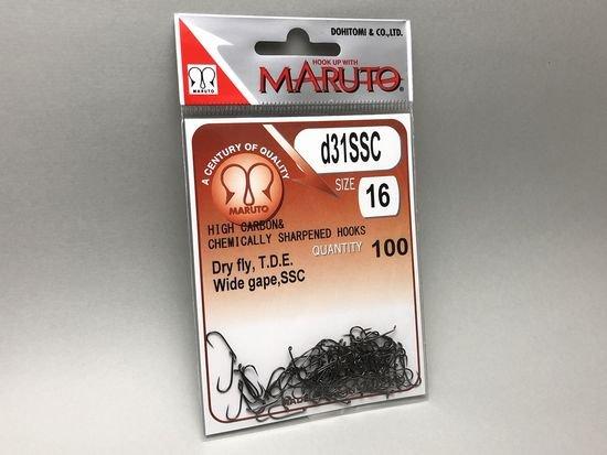 タイイング(毛鉤製作) フライフック(バーブレス)-マルト フライフック d31SSC #16 100本入り(ドライ・バーブレス・スタンダード・ギザ加工)