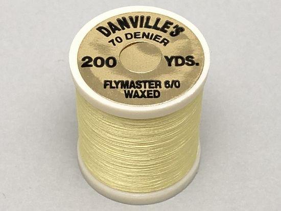 タイイング(毛鉤製作) マテリアル-ダンビル フライマスター ワックススレッド 6/0 200ヤード ペールイエロー