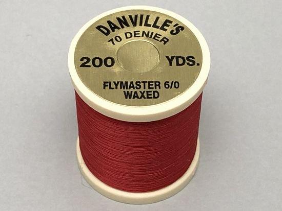 タイイング(毛鉤製作) マテリアル-ダンビル フライマスター ワックススレッド 6/0 200ヤード レッド