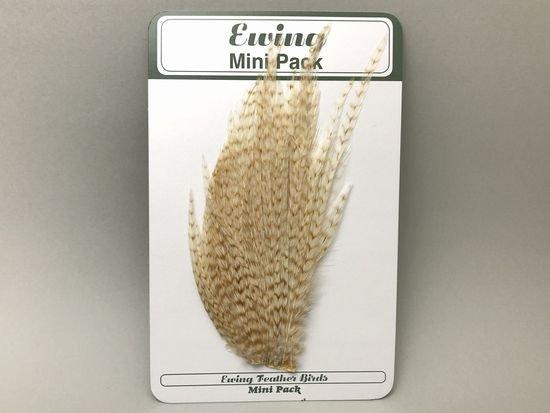 タイイング(毛鉤製作) マテリアル-Ewing コックハックル ドライフライ・ミニパック #12-14 ブリーチグリズリー