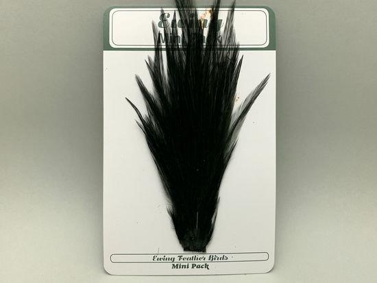 タイイング(毛鉤製作) マテリアル-Ewing コックハックル ドライフライ・ミニパック #12-14 ブラック