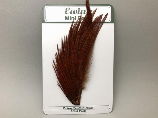 タイイング(毛鉤製作) マテリアル-Ewing コックハックル ドライフライ・ミニパック #12-14 ブラウン