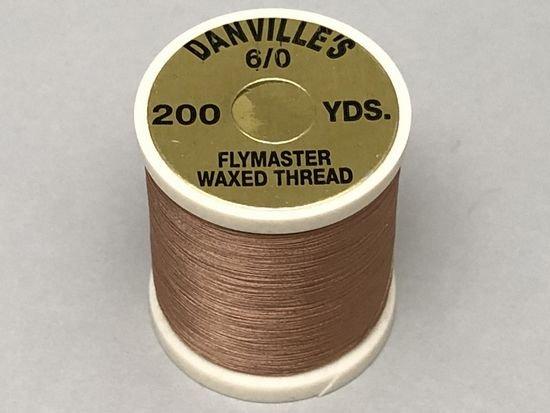 タイイング(毛鉤製作) マテリアル-ダンビル フライマスター ワックススレッド 6/0 200ヤード コーヒー