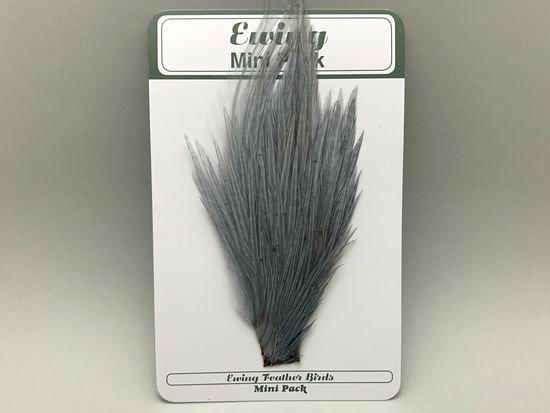 タイイング(毛鉤製作) マテリアル-Ewing コックハックル ドライフライ・ミニパック #12-14 ブルーダン