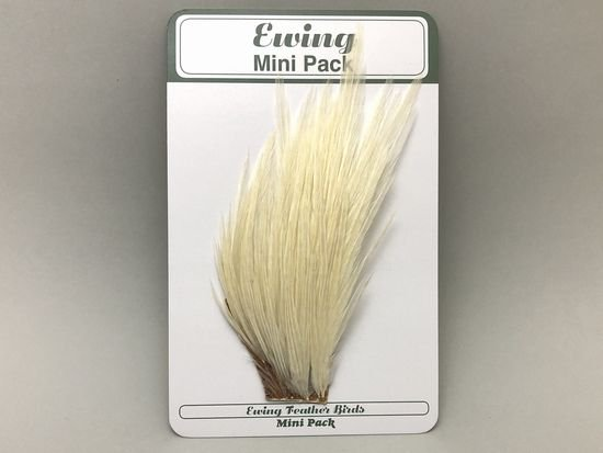 タイイング(毛鉤製作) マテリアル-Ewing コックハックル ドライフライ・ミニパック #12-14 ホワイト