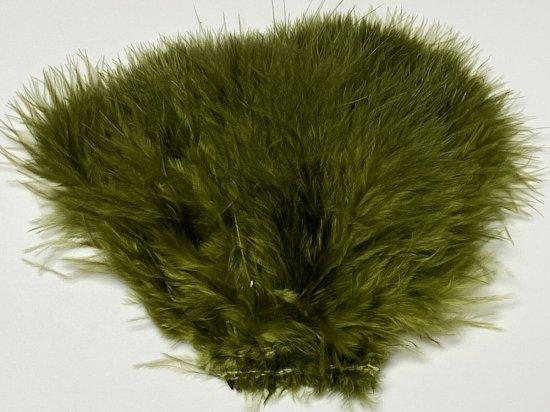 タイイング(毛鉤製作) マテリアル-アキスコ ウーリーバガーマラブー オリーブ