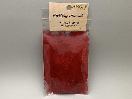 タイイング(毛鉤製作) マテリアル-アキスコ ウーリーバガーマラブー レッド
