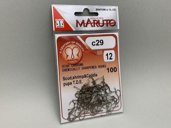 タイイング(毛鉤製作) フライフック(ドライ系)-マルト フライフック c29 #12 100本入り(カーブ)