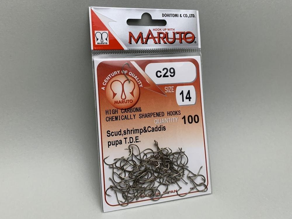 タイイング(毛鉤製作) フライフック(ドライ系)-マルト フライフック c29 #14 100本入り(カーブ)