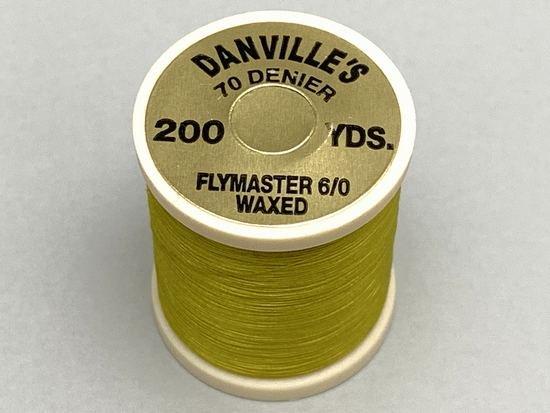 タイイング(毛鉤製作) マテリアル-ダンビル フライマスター ワックススレッド 6/0 200ヤード ライトオリーブ