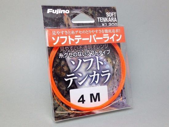 テンカラライン・ハリス ライン-フジノ テーパーライン ソフトテンカラ 4.0m  吉田孝氏の開発協力商品