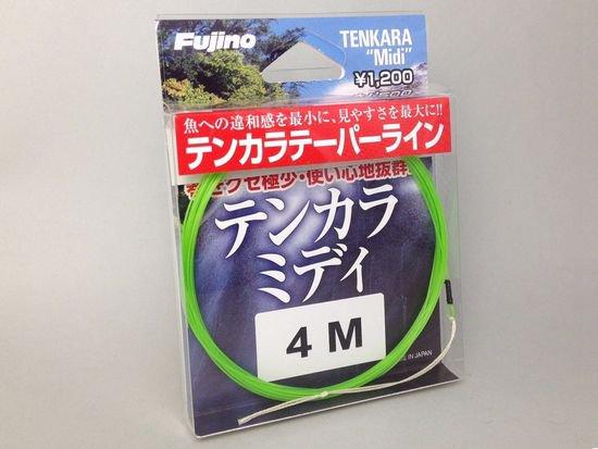 テンカラライン・ハリス ライン-フジノ テーパーライン テンカラミディ 4.0m 初心者にも振りやすいタイプ