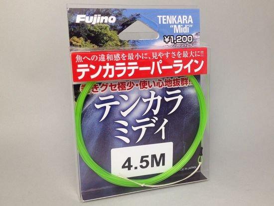 テンカラライン・ハリス ライン-フジノ テーパーライン テンカラミディ 4.5m 初心者にも振りやすいタイプ