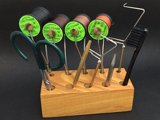タイイング(毛鉤製作) タイイングバイス・ツール-n-VISION 木製タイイングツールスタンド Sサイズ
