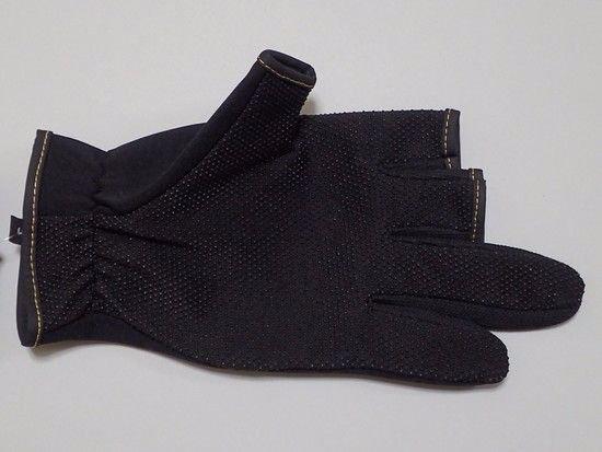 ウェア・バッグ他 -WAVE GEAR 防寒グローブWG4302 ハイブレス 3本切り ブラック 優れた防寒性と通気性を両立!