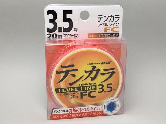 テンカラライン・ハリス ライン-ラインシステム テンカラレベルラインFC フロロカーボン 3.5号 20m