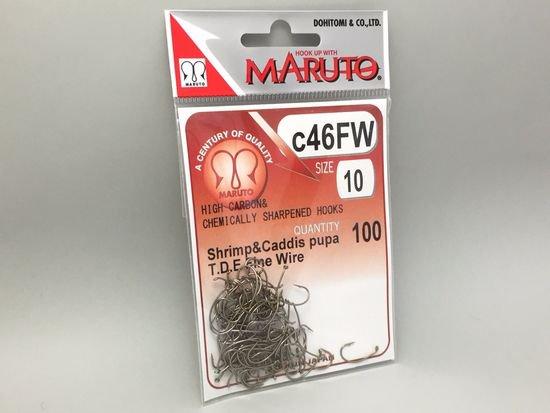 タイイング(毛鉤製作) フライフック(ドライ系)-マルト フライフック c46FW #10 100本入り(カーブ)