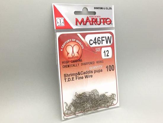 タイイング(毛鉤製作) フライフック(ドライ系)-マルト フライフック c46FW #12 100本入り(カーブ)