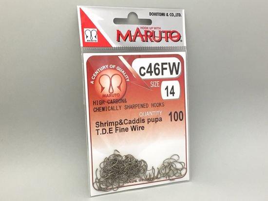 タイイング(毛鉤製作) フライフック(ドライ系)-マルト フライフック c46FW #14 100本入り(カーブ)