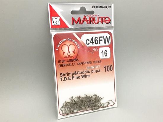 タイイング(毛鉤製作) フライフック(ドライ系)-マルト フライフック c46FW #16 100本入り(カーブ)