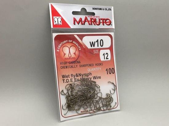 タイイング(毛鉤製作) フライフック(沈める系)-マルト フライフック w10 #12 100本入り(ウェットフライ・ニンフ用)