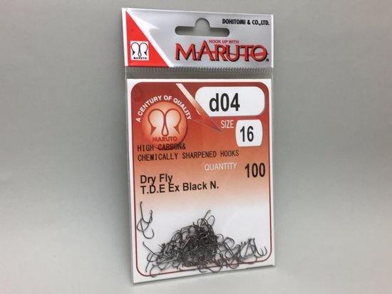 タイイング(毛鉤製作) フライフック(バーブレス)-マルト フライフック d04 #16 100本入り(ドライ・バーブレス)