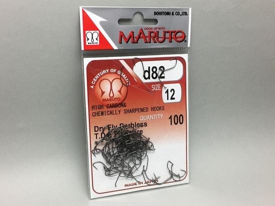 タイイング(毛鉤製作) フライフック(バーブレス)-マルト フライフック d82 #12 100本入り(ドライ・バーブレス・ショート)