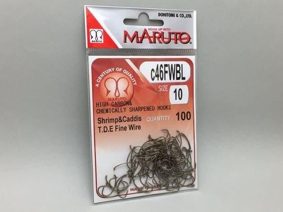 タイイング(毛鉤製作) フライフック(バーブレス)-マルト フライフック c46FWBL #10 100本入り(ドライ・バーブレス・カーブ)