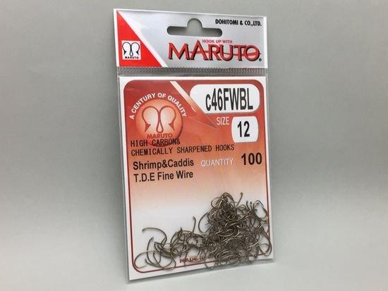 タイイング(毛鉤製作) フライフック(バーブレス)-マルト フライフック c46FWBL #12 100本入り(ドライ・バーブレス・カーブ)