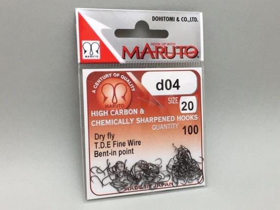 タイイング(毛鉤製作) フライフック(バーブレス)-マルト フライフック d04 #20 100本入り(ドライ・バーブレス)