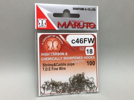 タイイング(毛鉤製作) フライフック(ドライ系)-マルト フライフック c46FW #18 100本入り(カーブ)