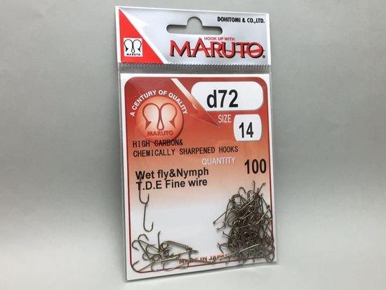 タイイング(毛鉤製作) フライフック(ドライ系)-マルト フライフック d72 #14 100本入り(ロング)