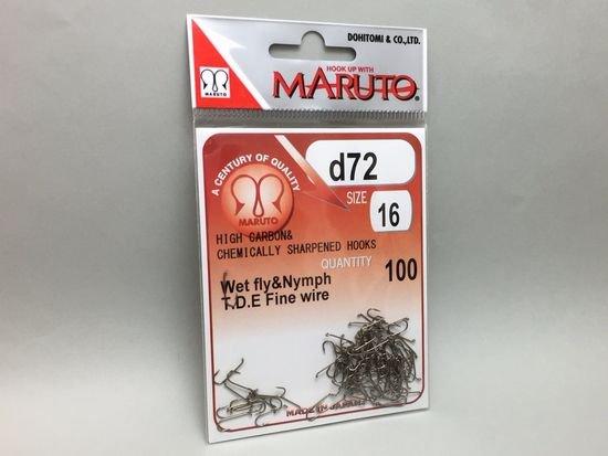 タイイング(毛鉤製作) フライフック(ドライ系)-マルト フライフック d72 #16 100本入り(ロング)
