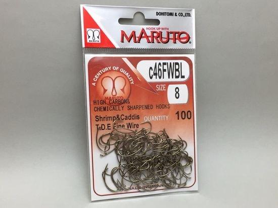 タイイング(毛鉤製作) フライフック(バーブレス)-マルト フライフック c46FWBL #8 100本入り(ドライ・バーブレス・カーブ)