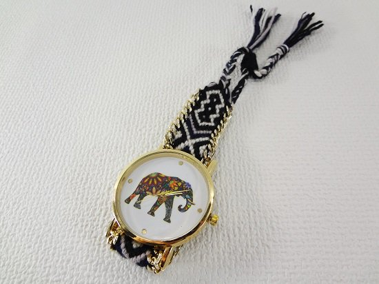 象柄入り腕時計【2】
