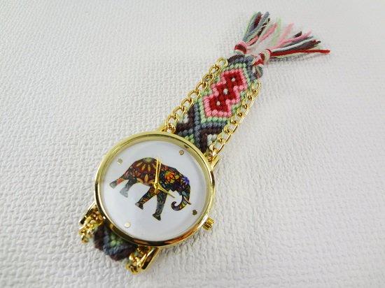 象柄入り腕時計【4】