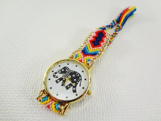象柄入り腕時計【7】