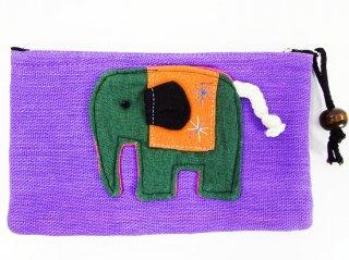 象のカラフルポーチ【11】