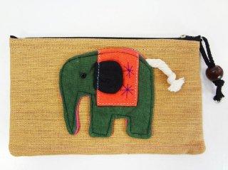 象のカラフルポーチ【12】