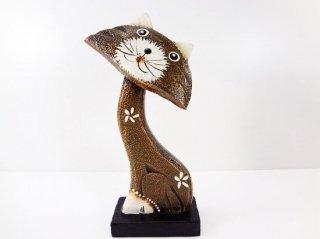 木製・猫の置物【2】